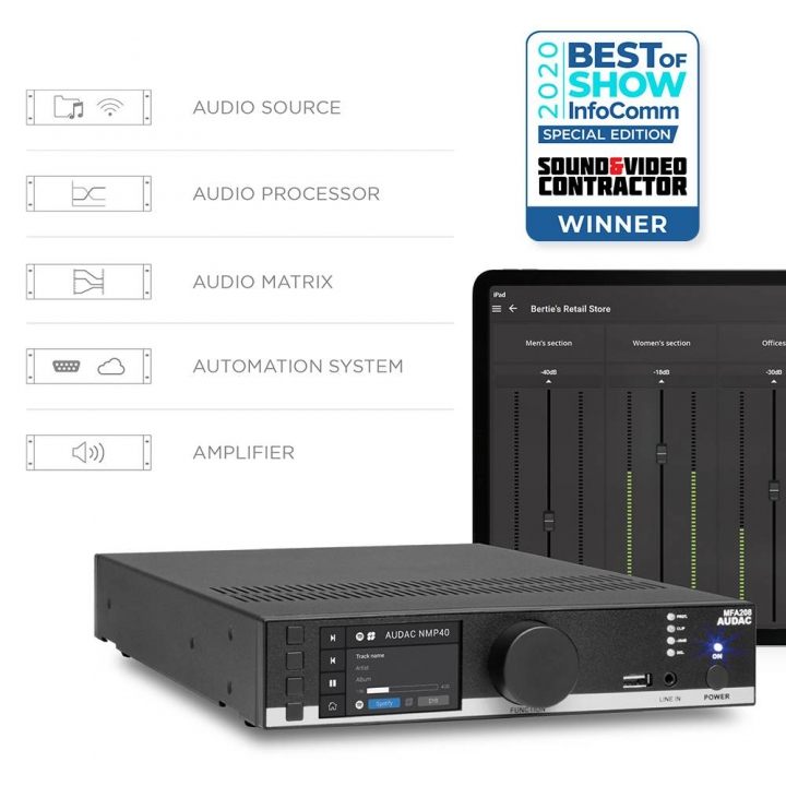 AUDAC's MFA Series Wins Future's Best of Show Award, Presented by Sound & Video Contractor