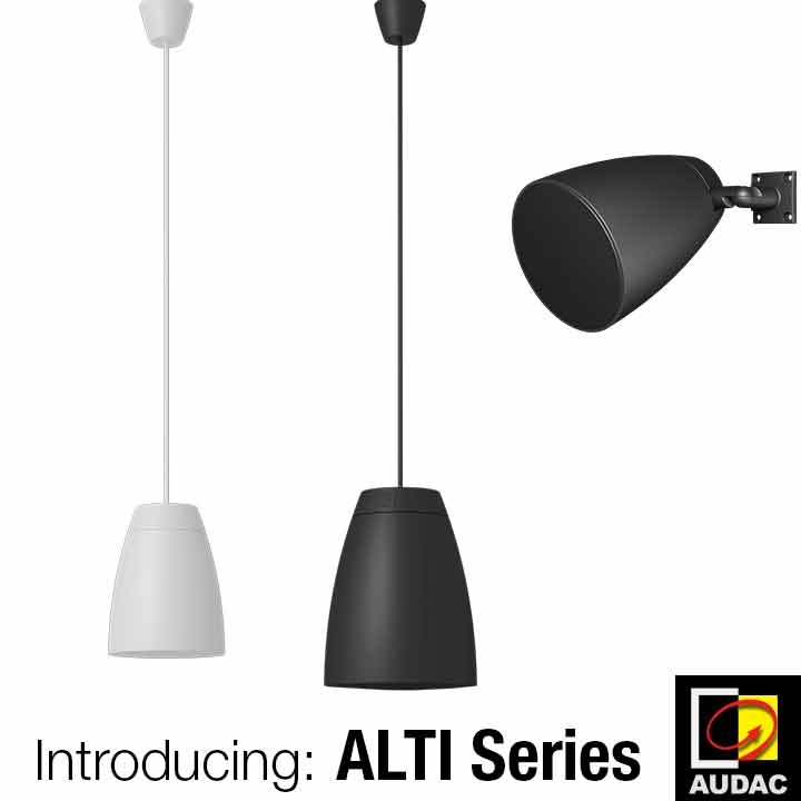 ALTI – Pendant loudspeakers Launch at InfoComm Connected