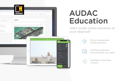 AUDAC Offers Innovative Sound Training Certificates